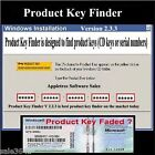 Find & Recover Lost Product Key Software Win XP, Vista & 7
