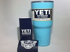 YETI Tiffany Blue Rambler 30 oz Tumbler insulated Stainless Steel Cup Damaged