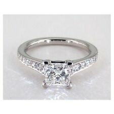 1.25 Cts VS2 H Accending Inspired Princess Cut Solitaire Diamond Engagement Ring