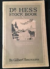 RARE Circa 1901 Dr. Hess STOCK BOOK Poultry HOGS Diagrams TREATMENT Cattle GUIDE