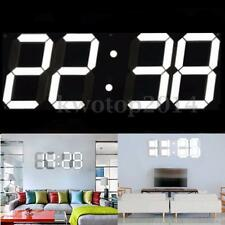 Large Remote Control 3D Modern Digital LED Wall Clock Timer Calendar Temperature