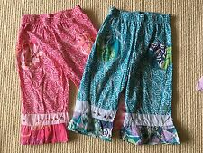 NAARTJIE Kids Girls Size 6 Years Size L Pink & Teal Soft Capris PLAY Condition