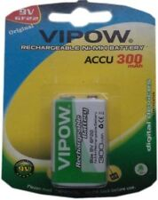 Vipow 300mAh 9V Rechargeable Battery For Toys, Projects, Multimeters , Testors