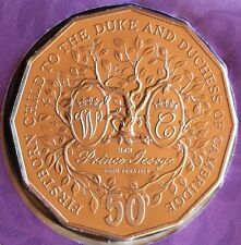 AUSTRALIAN .50c Coin & Stamp PNC 2013 Uncirculated Royal Christening