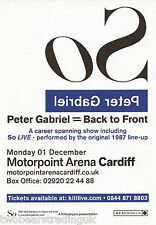 Event Promo Flyer: Peter Gabriel - Back To Front (Motorpoint, Cardiff, 2014) (1)