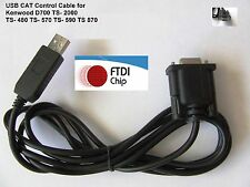FTDI USB CAT Control Cable  Kenwood TS- 480 570 590 TS-870 TS-2000 TM-D2000