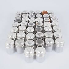 = Lot of 46 Vintage Collectible 35mm Film Kodak Aluminum Canisters Chrome