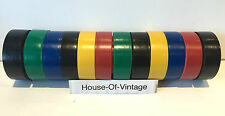 New 12 Rolls PVC Electrical Insulation Tape 18mm Flame Retardant 96m JobLot Sale