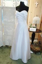 619 ALFRED ANGELO 2381 SZ 16 WHITE STRAPLESS WEDDING BRIDAL GOWN DRESS