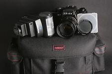 Leica R7 Gehäuse mit Leitz Summicron-R 1:2/50mm Canada inkl.Zubehörpaket; gebr.