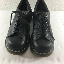 Dr. Doc Martens US 9 Black Leather Oxfords Lace Up Shoes Womens Air Cushion UK 7