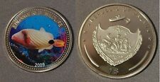 2009 Palau Large Proof color $1 Orange fish/Neptune/Mermaid