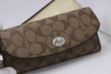 NWT Coach F49154 Peyton Signature Slim Envelope With Pouch Wallet MSRP $228