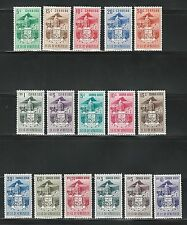 Venezuela: Scott 569-575 C473-C481 arms of Mérida and church hinged. VE413