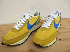 Vtg '70s Mens Nike LDV Orange Swoosh Waffle Sneakers Sz 9 Yellow/Blue USA Mint