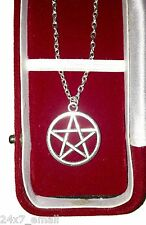 Supernatural Silver Pentagram Demon Devil Trap ~ Pendant / Amulet / Necklace