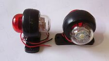 2 X RECOVERY SIDE MARKER OUTLINE LED LIGHTS LAMPS 24 VOLT TRAILER TRUCK LORRY