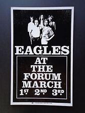 Eagles  0000042B At The Forum - Original Vintage Concert Promotion Poster