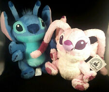New Lot Set 2 Authentic Disney Parks 9inch Pair Stitch Lilo Angel Plush Toy Doll