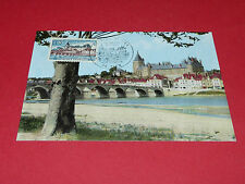 CPA PHILATELIE CHATEAU DE GIEN MUSEE INTERNATIONAL CHASSE 0,90 F 1973 1er JOUR