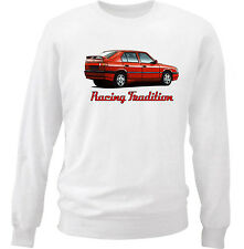 ALFA ROMEO 33 INSPIRED - COTTON WHITE SWEATSHIRT ALL SIZES IN STOCK
