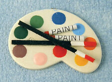 Artists Paint Palette Doll House Miniature Artwork Art Artist
