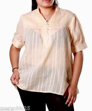 NEW SEXY Women TOP Beige Tan Yellow Blouse Short Sleeves PLUS SIZE 1 XL 2XL 3XL