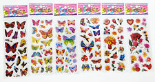"6 sheets Stickers lot ""Butterfly and flower"" kdis Favors  Party Bag Fillers gift"