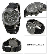IMPORTED LUXURY EMPORIO ARMANI AR5889 FULL BLACK CHRONOGRAPH MENS WATCH GIFT