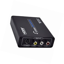 Tendak 3RCA AV CVBS Composite & S-Video R/L Audio to HDMI Converter Adapter Upsc