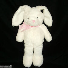 The Childrens Place White Bunny Rabbit Pink Gingham Bow Plush Stuffed Children's