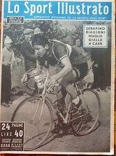 LO SPORT ILLUSTRATO N 28 1951 SERAFINO BIAGIONI MAGLIA GIALLA A CAEN TOUR FRANCE