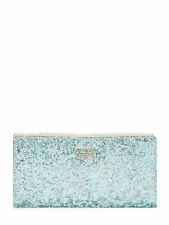 NWT Kate Spade 'Glitter Bug' Stacy Wallet in Baby Blue