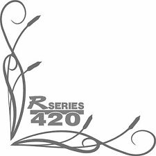 Scania style R series 420 truck cab window stickers (pair) fine bullrush scroll