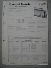 Philips 12 RL490 Kofferradio Taifun Service Manual, Ausgabe 06/69