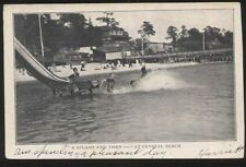Postcard CRYSTAL BEACH Ontario/CANADA  Amusement Park Water Slide & Pier 1906