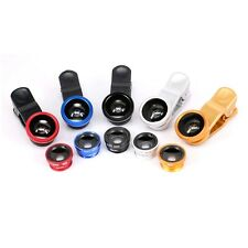 Universal Clip 3 in 1 Smartphone Lens 180 Degree Fish eye Lens 0.67X Wide Angle