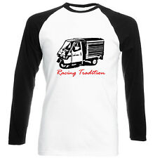 APE PIAGGIO 50 RACING TRADITION P - NEW COTTON TSHIRT - ALL SIZES IN STOCK