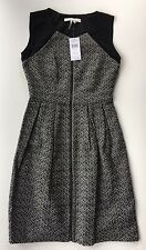 NWT Women's Max and Cleo Black and White Tweed Zipper Front Dress-Sz 2 ($138)