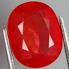 INTERESSANTER SAPHIR ROT TOP FARBE OVAL 4,10 CT