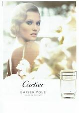 PUBLICITE ADVERTISING 027  2012  Cartier  eau de parfum Baiser volé