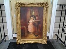 19th Century Oil on Canvas signed Fritz Eig dealer or reseller