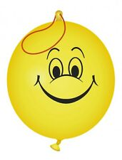 10 x BEST QUALITY 320mm  PUNCH BALLOONS YELLOW SMILEY HAPPY FACE ~ LOWEST PRICE