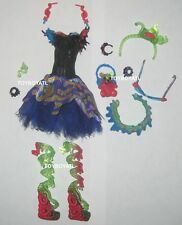 Monster High Sweet Screams Ghoulia Yelps Doll Outfit Clothes Set Dress Shoes NEW