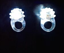 Light Up Flashing All White Jelly Ring - Buy One, Get One FREE!
