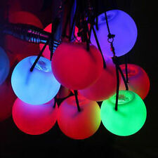 2 PCS LED Multi-Coloured Glow POI Thrown Ball Light up For Belly Dance Hand Prop