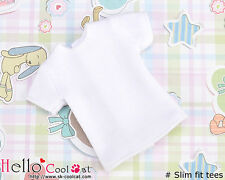 ☆╮Cool Cat╭☆47.【NS-48】Blythe/Pullip short sleeve T-shirt(Slim Fit)# White