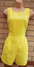 EVITA BRIGHT YELLOW CUT OUT BACKLESS FORMAL CURVY FIT PLAYSUIT ALL IN ONE 12 M