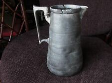 ANTIQUE PEWTER ? SILVER PLATE ? SWING TOP JUG CHASED DESIGN SHAW & FISHER 9""