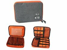 Double Layers Portable Digital Bag- Electronics Organizer Travel Carrying Case